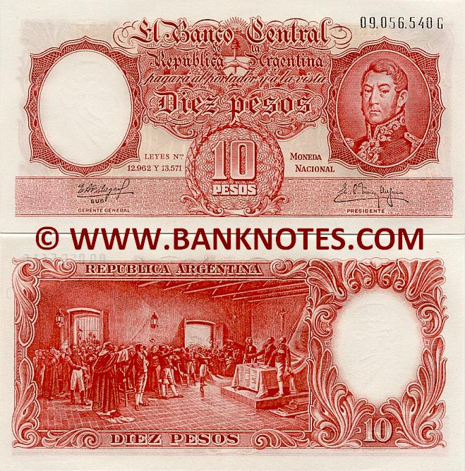 Argentine Currency Bank Note Gallery