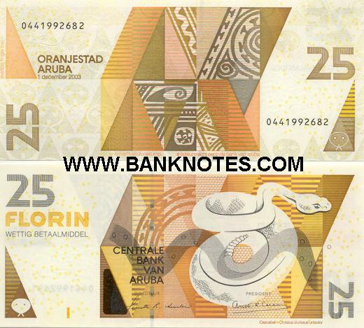 Aruban Currency Bank Notes