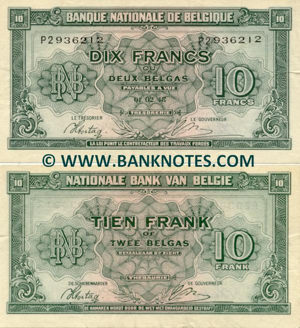 Belgian Currency & Bank Note Gallery