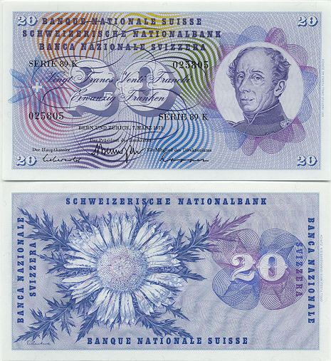 Switzerland Swiss Franc Currency Image Gallery Banknotes