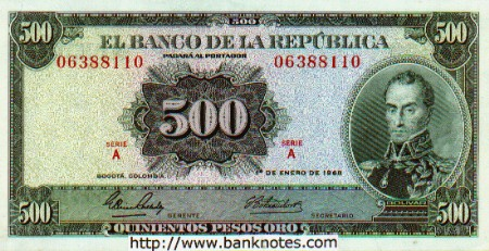 Colombia - Colombian Peso Currency Bank Notes - Colombian