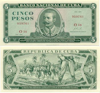 Cuba Cuban Peso Currency Bank Notes Banknotes Image