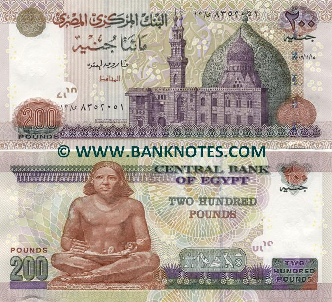 Egyptian Currency Bank Note Gallery