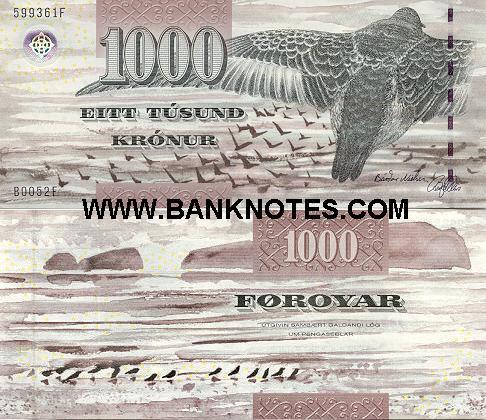 Ram For Sale >> Faeroe Islands 1000 Kronur 2005 - Faroese Currency Bank ...
