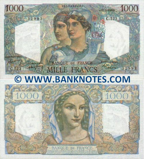 French Currency Bank Notes