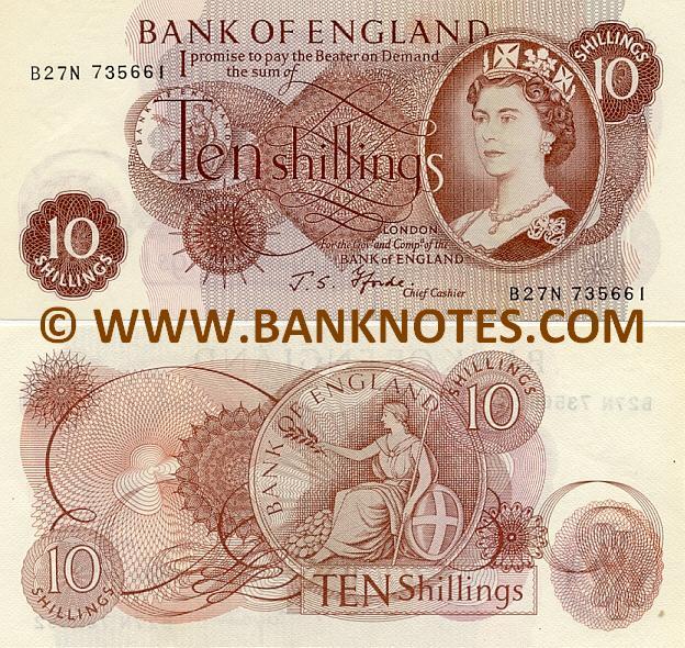 Great Britain 10 Shillings 1960 1970