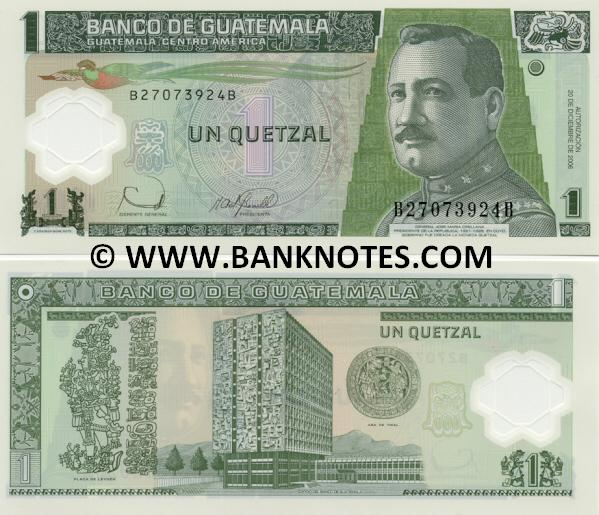 Guatemalan Currency Bank Note Gallery