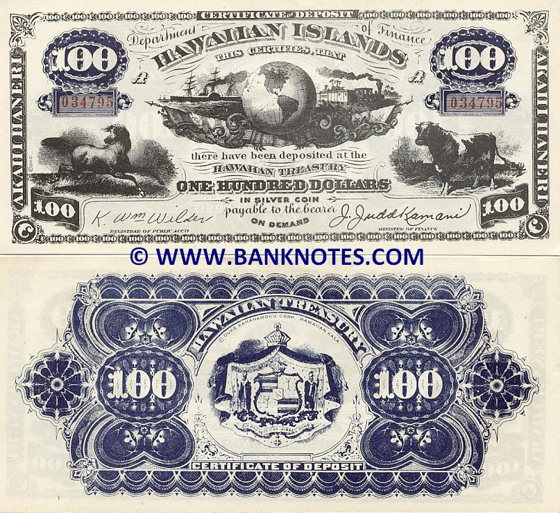 Hawaiian Currency Bank Note Gallery