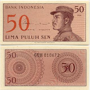 Bank Indonesia UNC 100 Rupiah Banknote 1968  P-108a Sudirman