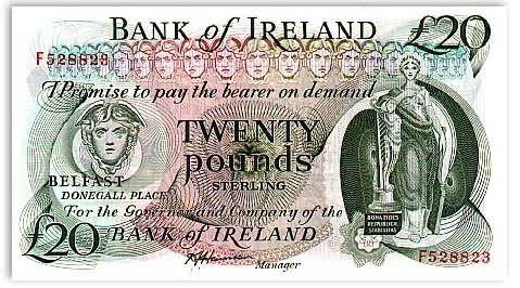 Northern Ireland Banknotes Irish Pound Currency Image