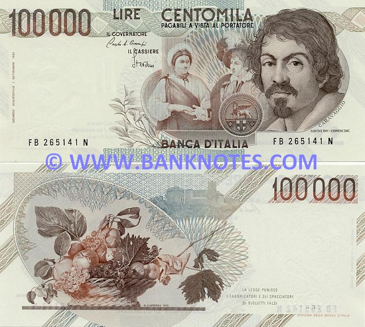 Italian Bank Note Currency Gallery