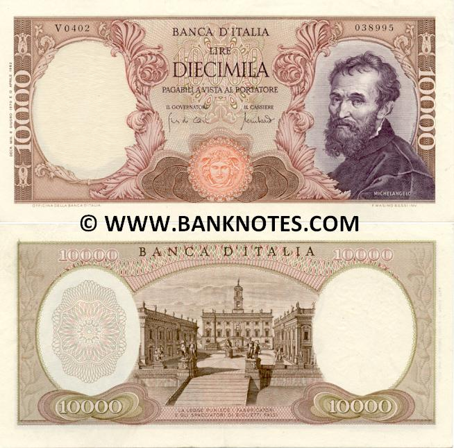 4c67fad684 Italy 10000 Lire 1962-1973 - Italian Currency Bank Notes, Paper ...