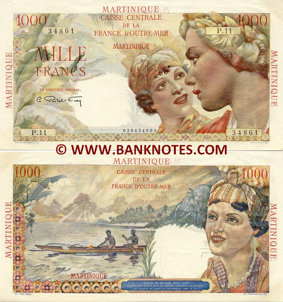 Martinican Currency Gallery