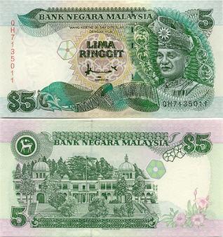 Malaysia Ringgit Dollar Malaysian