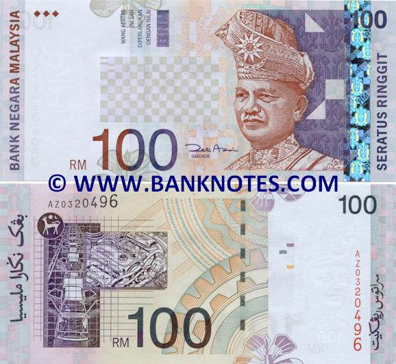 Malaysia 100 Ringgit 2001 - Malaysian Currency Bank Notes, Paper Money ...