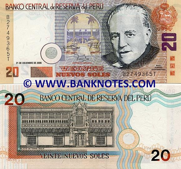 Peru 20 nuevos soles 2006 peruvian currency bank notes south peruvian bank note gallery thecheapjerseys Choice Image