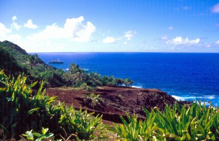 St. Paul's Point in west Pitcairn Island