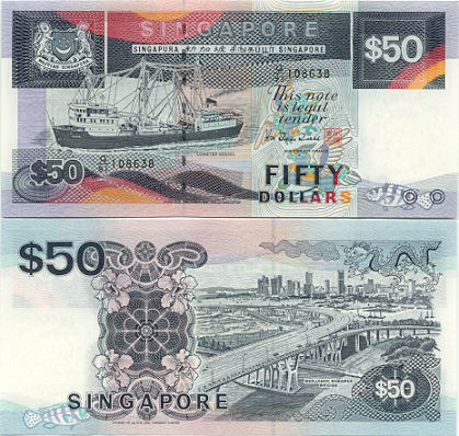 Singapore Pictures on Singapore   Singaporean Dollar Currency Bank Note Image Gallery