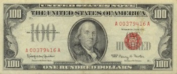 United States Of America 100 Dollar Bill Front