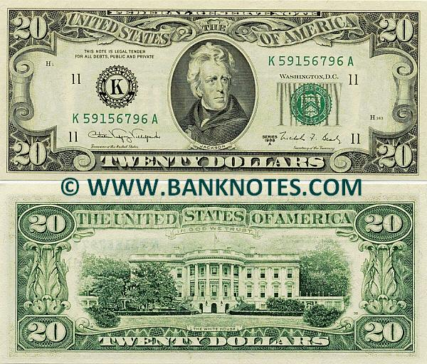 United States Of America 20 Dollars