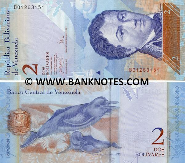Venezuela Bolivares Set of 8 Banknotes World Paper Money UNC Currency Bill Note