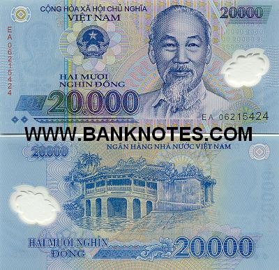 Viet Nam 20000 Dong 2006 Vietnamese Currency Bank Notes