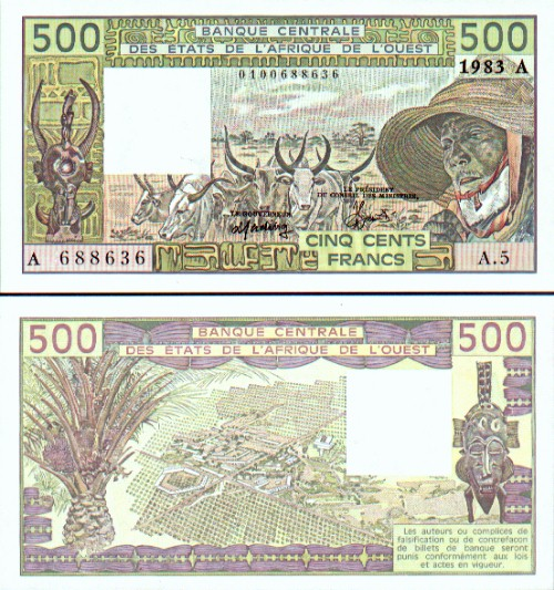 Ivory Coast Franc Ivorian Currency Paper Money Gallery