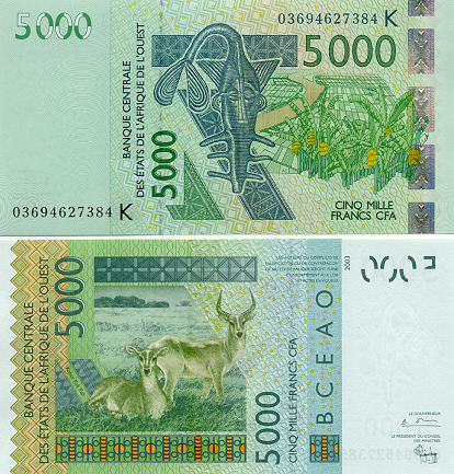 Gallery of Banknotes of Senegal