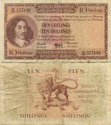 Jan van Riebeeck r10 note value