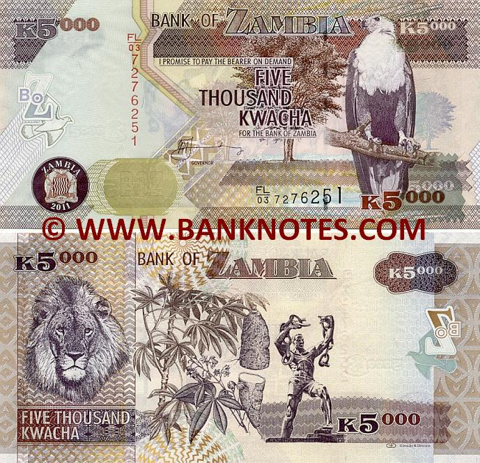 50,000 Kwacha note (image courtesy of Banknotes.com)