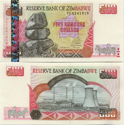 Zimbabwe Zimbabwean Dollar Currency Photo Gallery