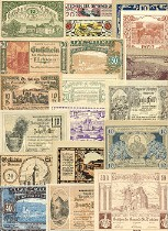 Austrian Notgeld Set of 100. Click to enlarge (#ATNG100)