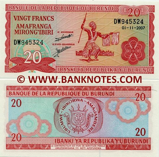 Burundi Currency & Banknote Galllery