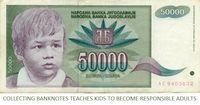 La collecte de billets permet aux enfants de devenir des adultes responsables.
