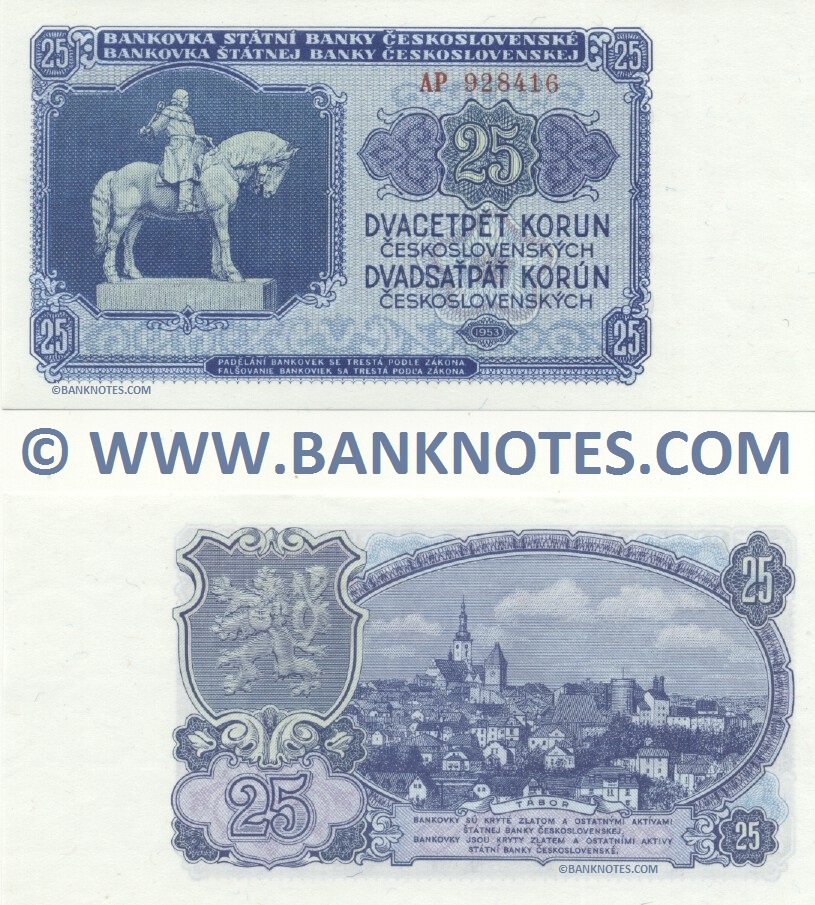 Czechoslovak Currency Banknote Gallery