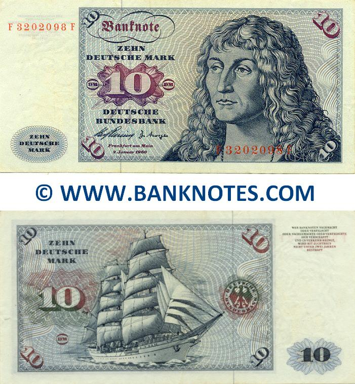 Germany 10 Deutsche Mark 1960 German Currency Bank Notes Deutschland Marks Paper Money World Currency Banknotes Banknote Bank Notes Coins Currency Currency Collector Pictures Of Money Photos Of Bank Notes Currency