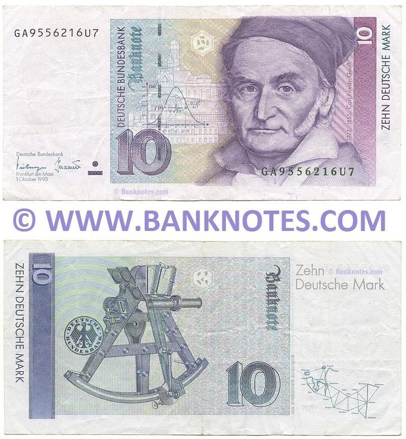 Germany 10 Deutsche Mark 1989 99 German Currency Bank Notes European Paper Money Banknotes Banknote Bank Notes Coins Currency Currency Collector Pictures Of Money Photos Of Bank Notes Currency Images Currencies Of