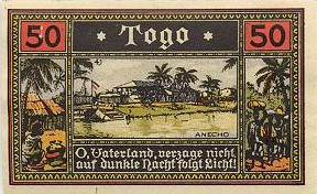 German Africa Colonial Notgeld Set of 4. Click to enlarge.