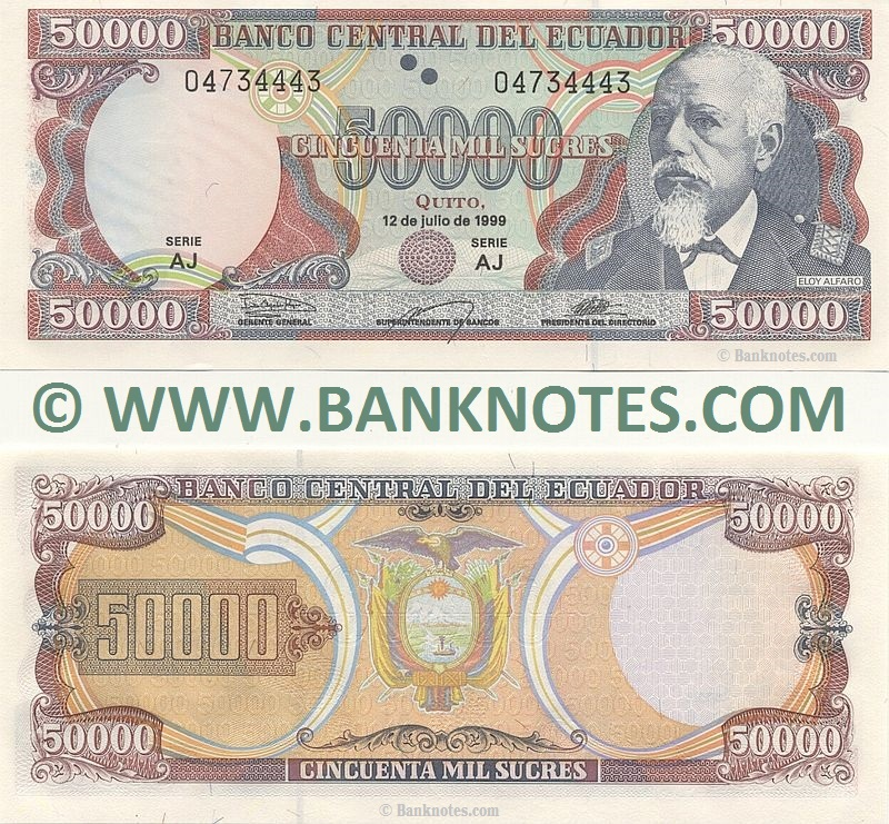 Ecuador Currency Banknote Gallery