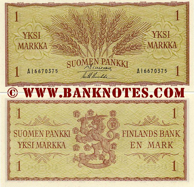 Currency & Bank Note Gallery of Finland - Suomi
