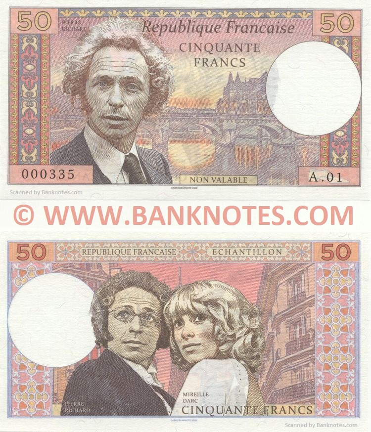 French Currency Banknote Gallery