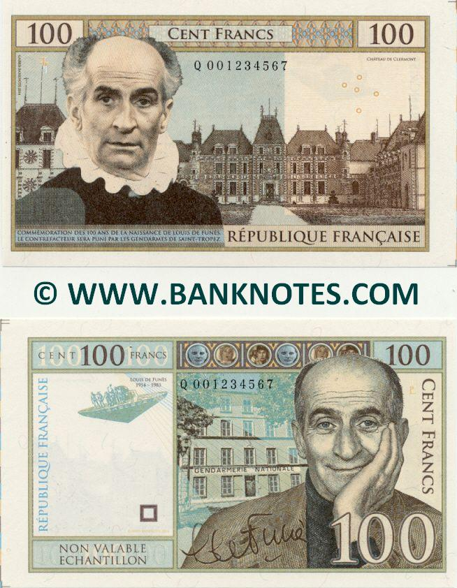 French Essay Currency Banknote Gallery