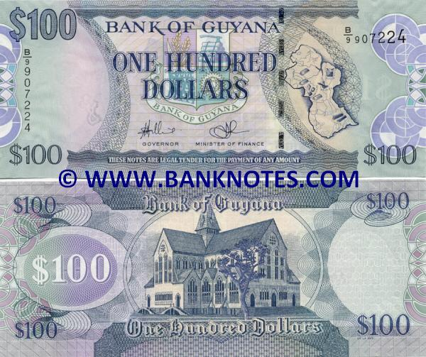 Guyana 100 Dollars 2008 Guyanese