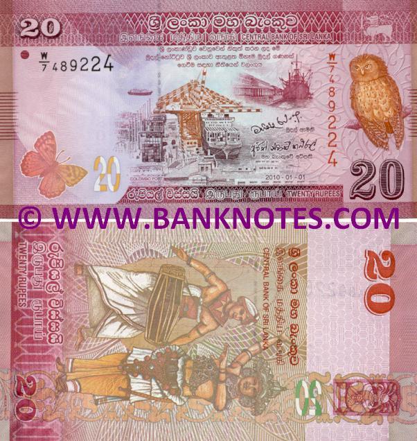 Sri Lanka 20 Rupees 2010 - Sri Lankan Currency Bank Notes