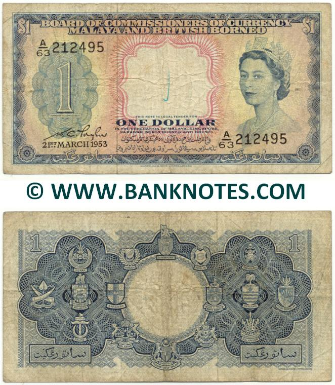 Malaya & British Borneo Currency Gallery