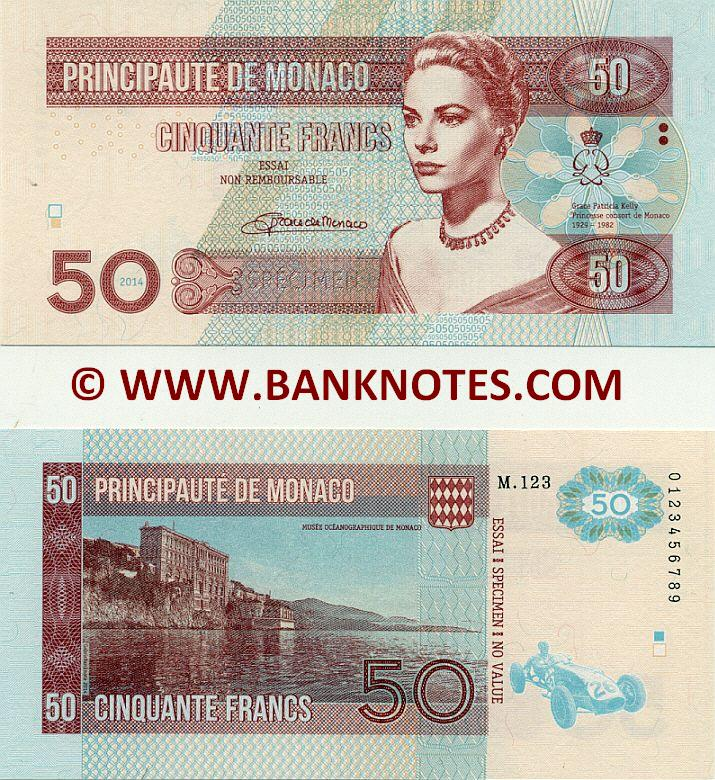 Monégasque Currency Banknote Gallery