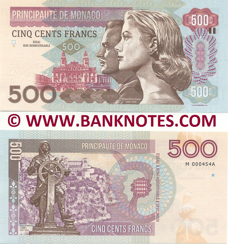 Monegasque Currency Banknote Gallery
