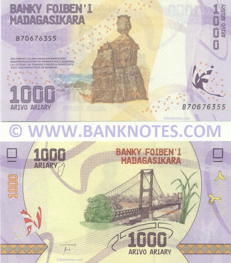 Malagasy (Madagascar) Banknote Currency Gallery