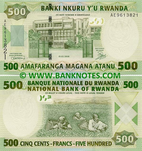 Rwandan Currency Banknotes Gallery