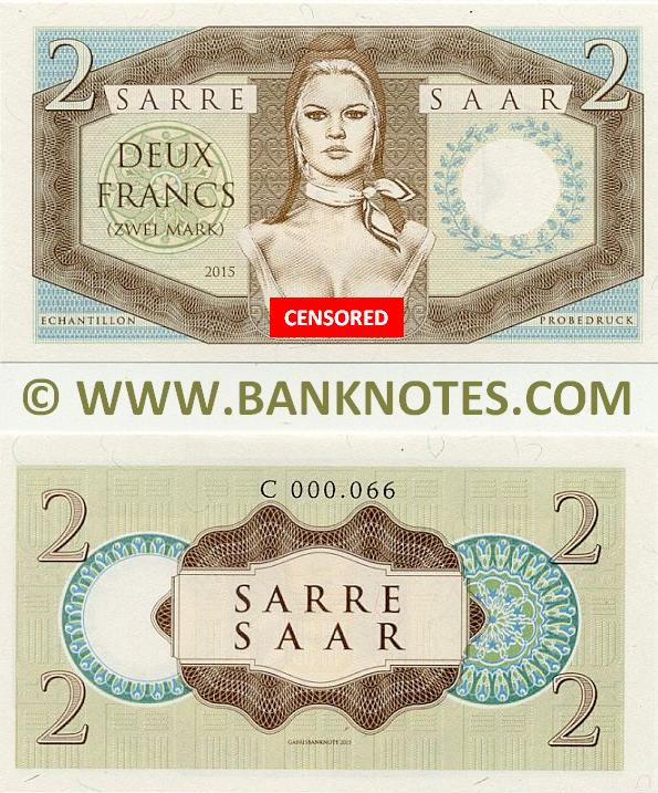 Saar-Sarre Currency Banknote Gallery